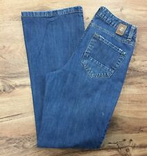 Izod Sz 8 Classic Fit Distressed Boot Cut Jeans Light Stretch Denim Womens 8 Reg
