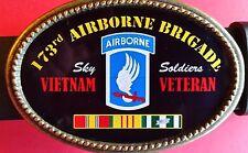 Vietnam Veteran 173rd AIRBORNE BRIGADE  Epoxy Buckle -NEW!
