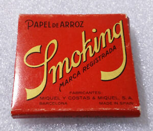 Vintage Cigarette Rolling Paper ✱ SMOKING ✱ Rare Old Tobacco Cartine SPAIN