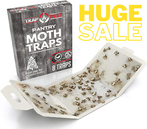 8 Pack Pantry Moth Traps Safe and Effective for Food and Cupboard for Pantry Mot