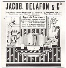 Publicité JACOB DELAFON & Cie  Salle de Bain sanitaire  photo vintage  ad 1925
