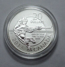RARE , Superb 2013 Canada $20 Fine Silver Commemorative Coin - Hockey !!!!...