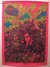 Vintage Blacklight Poster Sweet Cream Ladies Psychedelic Pin-up Collage Abstract