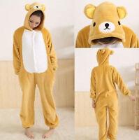 Bear Unisex Adult Kigurumi Pajamas Anime Cosplay Costume bodysuit Sleepwear