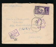 INDIA WW2 1943 TRIPLE CENSORS IMPERIAL + RAF + IFC from ASANSOL