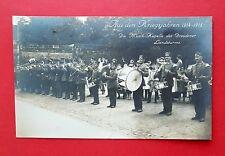 Militär Foto AK DRESDEN 1. WK 1914 - 15 Musik Kapelle Landsturm Soldaten ( 37571