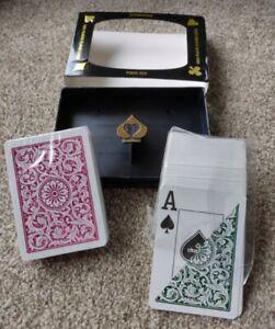 Copag 1546 Playing Cards Burgundy Green Jumbo Index Poker Size 100% Plastic