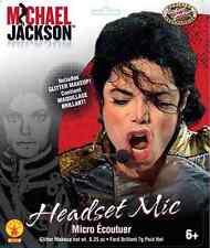 Michael Jackson Headset Mic Microphone Fancy Dress Halloween Costume Accessory