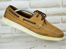 SEBAGO WENTWORTH Brown Leather Mens Casual Boat Deck Shoes Size 9.5 UK 44 EU
