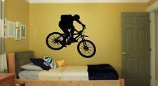 Wall Decal Sticker Bedroom sport bike bmx bicycle riding boy kids nursery bo2825