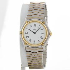 Ebel Classic Wave 18k yellow gold and stainless watch  ref 181909