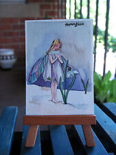 ACEO Limited Edition- Snowdrop flower fairy inspired by CM Barker