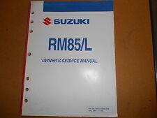 2005 Suzuki RM85/L K5 RM 85 Factory Service Manual 99011-02B80-03A