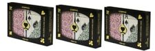 3PK COPAG Plastic Playing Cards Poker Size Jumbo Index Burgundy Green NEW