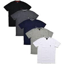 Polo Ralph Lauren мужские тепловой футболка вафельная вязка футболка круглый вырез логотип пони Новый