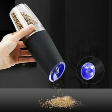 Automatic Electric Pepper Grinder LED Light Salt Pepper Grinding Bottle Ceramic
