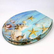 NWE Starfish Novelty Beach Toilet Seat Resin | Chrome Metal Bottom Fixing Hinges