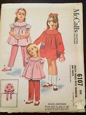 Vintage 60s Sewing Pattern Dress Pants Humpty Dumpty Transfer M6107 FF Uncut 4