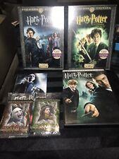 Lot 3 Harry Potter DVD Goblet Of Fire Phoenix & Chamber Of Secrets W/Cards