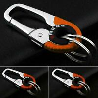 Stainless Steel Keychain Key Ring Hook Outdoor Buckle Carabiner color orang T2G3