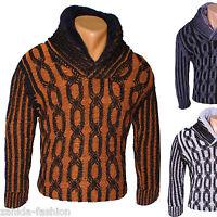 BLACKROCK JEEL Herren Pullover Warm Grobstrick Winter Pulli Sweat V-NECK NEU