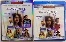 DISNEY A WRINKLE IN TIME BLU RAY DVD 2 DISC SET + SLIPCOVER SLEEVE FREE SHIPPING