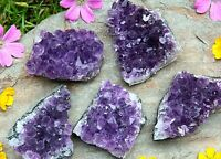 URUGUAYAN AMETHYST CRYSTAL CLUSTER - WEIGHT 101-120g - Natural Raw Mineral Druzy