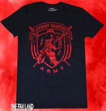 New The Ramones Men's Johnny Presidential Seal Black Vintage Classic  T-shirt