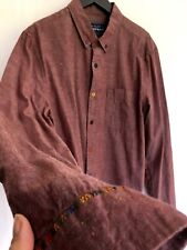 TOPMAN Dusky Pink/Purple Casual Shirt, Collared Embroidery Size L Casual