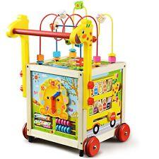 Lauflernwagen Holz Baby Gehhilfe Motorikwürfel Lauflernhilfe Walker Gehfrei Kind