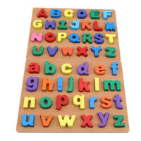 Wooden 3D Puzzle Jigsaw Wooden Toys For Children Letter Fruit Number Puzzles