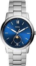 Fossil Men's The Minimalist FS5618 44mm Blue Dial Stainless Steel Watch