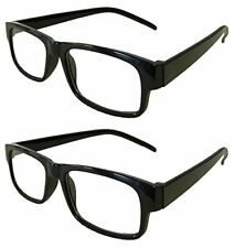 Reading Glasses [+3.75] 2 Black Plastic Frame Wholesale Lot Unisex 3.75