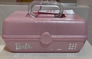 Barbie Caboodles Make Up Caddy Case Pretty in Petitte Silver Glittery PINK CUTE!