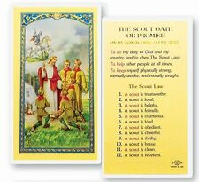 THE BOY SCOUT OATH OF PROMISE HOLY CARD