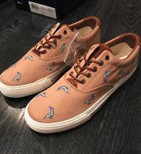 Polo Ralph Lauren Vaughn Critter Shoes Khaki Sneakers Men's 9.5 New Swordfish