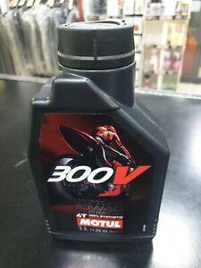 Olio Moto Motul 300V 4T 10W40 Factory Line Road Racing 100% Sintetico 1 Litro
