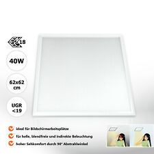 LED Panel 62x62 Tageslichtweiß 6000K 40W UGR19 Bildschirmarbeitsplatz PMMA Xtend