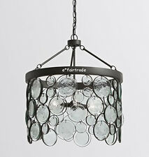 NEW Pottery Barn Emery Indoor/Outdoor Recycled Glass Chandelier