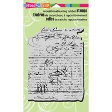 Vintage carta se aferran sello de goma-Stampendous