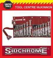 SIDCHROME SCMT22105 16pce RING & OPEN END COMBINATION METRIC & A/F SPANNER SET