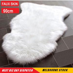 Faux Sheepskin Rabbit Fur Sheepskin shape Rug Home Idea Fluffy