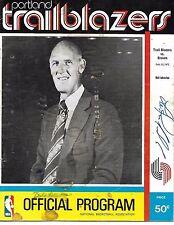 1972-73 Portland Trailblazers-Braves Program Neil Johnston Auto + Others RARE!!