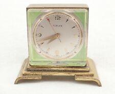 Vintage Swiss Turler 17 Jewel Miniature Skeleton Shelf Clock
