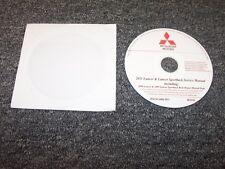 2011 Mitsubishi Lancer & Sportback Shop Service Repair Manual DVD DE ES GTS