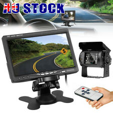 7'' TFT LCD Monitor Reverse Reversing Camera Rear View 18 IR LED Night Vision AU