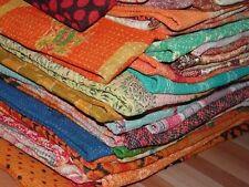 Wholesale Lot 5 pcs Vintage Kantha Quilt Reversible Throw Handmade Bedspread Art