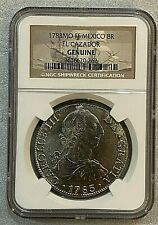 1783 MO FF MEXICO EL CAZADOR SHIPWRECK 8 REALES SILVER COIN NGC GENUINE - SUPERB