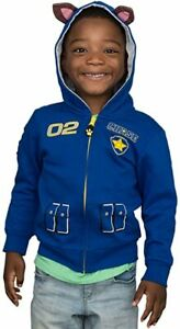 used Paw Patrol Children I am Chase Zip up Blue Hoodie (Size 4/6T)