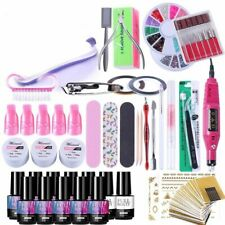 Nail Manicure Set Lamp Dryer Polish Cutter Clipper Pusher Color Package Kit Tool